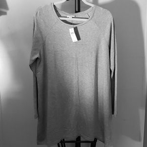 J Jill Long Sleeve Top Heather Gray,  Large NWT